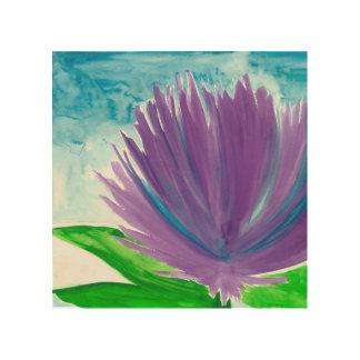 Impression Sur Bois Fleur pourpre 1
