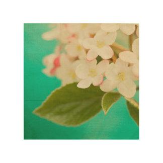 Impression Sur Bois Fleurs blanches IX