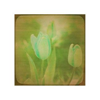 Impression Sur Bois Fleurs blanches VIII