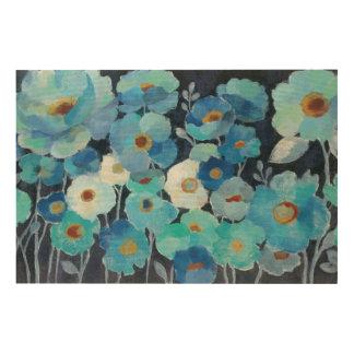 Impression Sur Bois Fleurs d'indigo