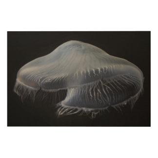 Impression Sur Bois Flottement de méduses de lune