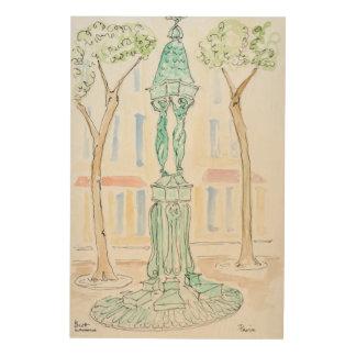 Impression Sur Bois Fontaine de Wallace sur la rue Brea | Paris,