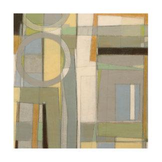 Impression Sur Bois Formes géométriques abstraites colorées