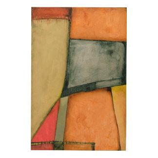 Impression Sur Bois Formes géométriques colorées contemporaines