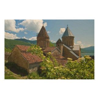 Impression Sur Bois Forteresse d'Ananuri pittoresque