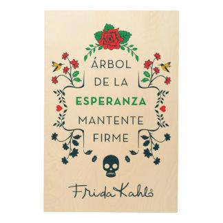 Impression Sur Bois Frida Kahlo | Árbol De La Esperanza