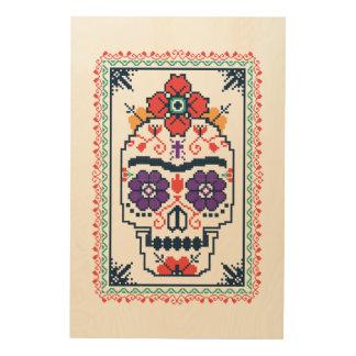 Impression Sur Bois Frida Kahlo | Calavera