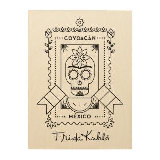 Impression Sur Bois Frida Kahlo | Coyoacán