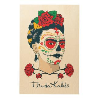 Impression Sur Bois Frida Kahlo | El Día de los Muertos