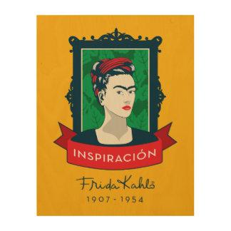 Impression Sur Bois Frida Kahlo | Inspiración