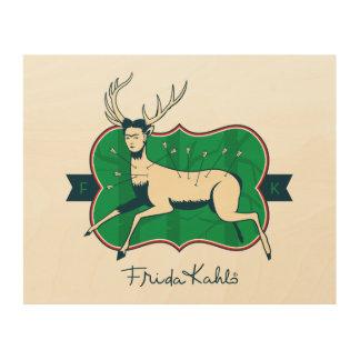 Impression Sur Bois Frida Kahlo | les cerfs communs blessés