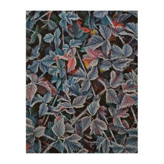 Impression Sur Bois Frost sur le feuille d'automne, Orégon