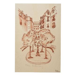 Impression Sur Bois Furstenberg, Saint-Germain-DES-Pres église, Paris