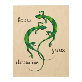 Impression Sur Bois Geckos