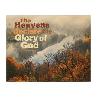 Impression Sur Bois Gloire de vers de bible de 19:1 de psaume de l'art