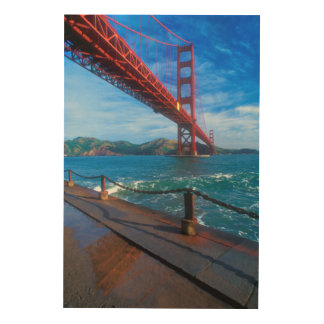 Impression Sur Bois Golden gate bridge, la Californie
