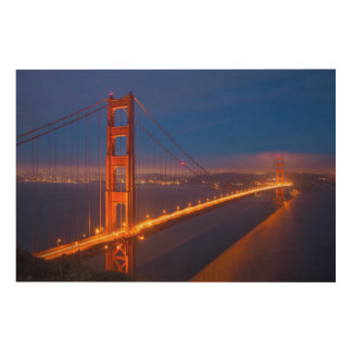 Impression Sur Bois Golden gate bridge, la Californie 2