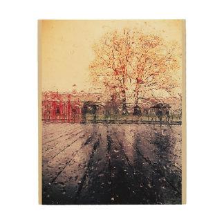 Impression Sur Bois Gouttelettes de pluie de tempête de musée