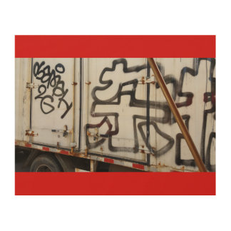 Impression Sur Bois Graffiti de camion de Pékin