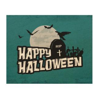 Impression Sur Bois Halloween heureux