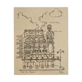 Impression Sur Bois Haussmann construisant la rue De Rennes, Paris de
