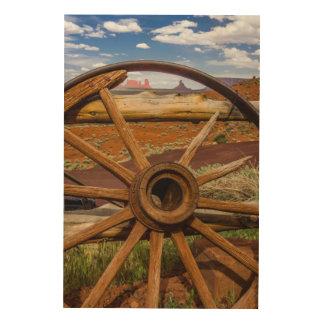 Impression Sur Bois Haut étroit de roues, Arizona