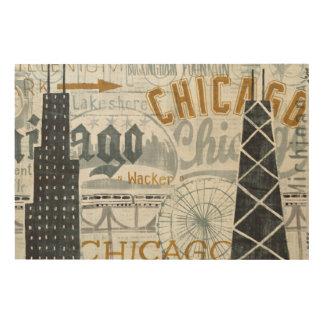 Impression Sur Bois Hé cru de Chicago