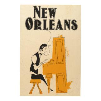 Impression Sur Bois Honky Tonk de la Nouvelle-Orléans