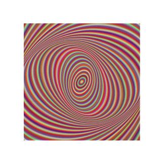 Impression Sur Bois Hypnose au néon
