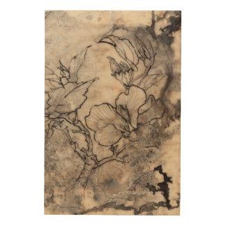 Impression Sur Bois I floral tatoué