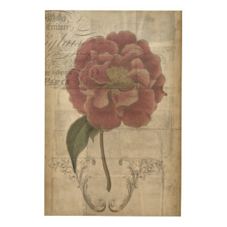 Impression Sur Bois III floral français