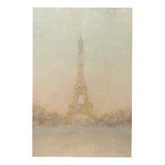 Impression Sur Bois Image de l'aquarelle | d'Eiffel Towe