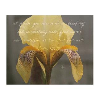 Impression Sur Bois Iris de zèbre de jaune de 139:14 de psaume