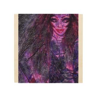 Impression Sur Bois Jamima l'art de mur de sorcière par Trinnita