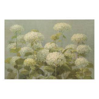 Impression Sur Bois Jardin blanc d'hortensia
