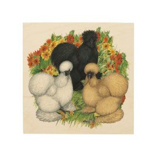 Impression Sur Bois Jardin d'agrément Silkies