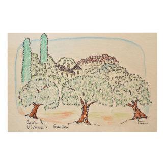 Impression Sur Bois Jardin dans Speracedes, Cabris | au sud de la