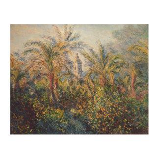 Impression Sur Bois Jardin de Claude Monet | dans Bordighera