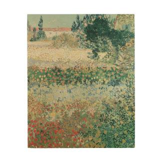 Impression Sur Bois Jardin de Vincent van Gogh | en fleur, Arles, 1888