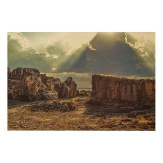 Impression Sur Bois La Chypre, tombes des rois