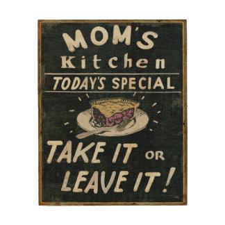 Impression Sur Bois La cuisine de la maman