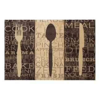 Impression Sur Bois La cuisine exprime le trio