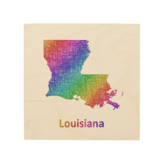 Impression Sur Bois La Louisiane