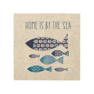 Impression Sur Bois La maison côtière de l'art | est par la mer