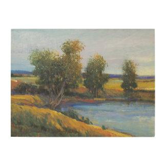 Impression Sur Bois La réflexion II de l'arbre