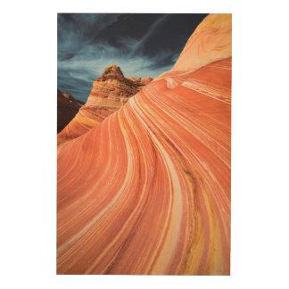 Impression Sur Bois La vague, falaises vermillonnes, Arizona