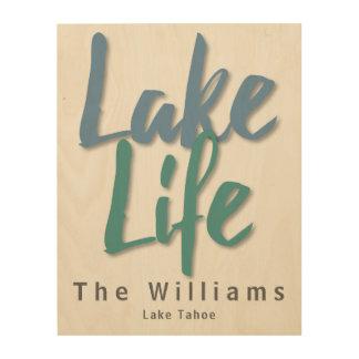 Impression Sur Bois La vie de lac