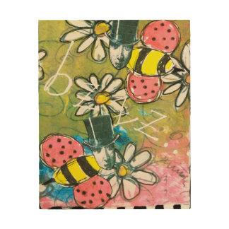 Impression Sur Bois L'abeille de Steampunk dans le casquette supérieur
