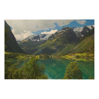 Impression Sur Bois Lac Floen pittoresque, Norvège