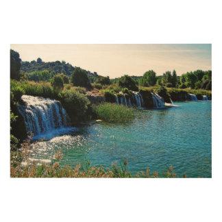 Impression Sur Bois Lagune-de-ruidera (Espagne)